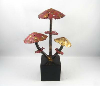 Vintage Mid Century Modern Copper Metal Art Mushroom Sculpture C. Jere Era