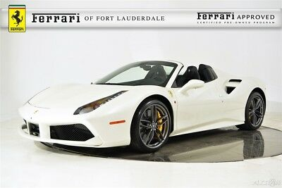 2016 Ferrari 488 Spider Certified CPO pecial Paint Carbon Fiber LED Full Electric Sport Exhaust Shields Camera Forged