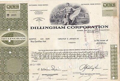 Dillingham Corporation - Usa - Action Titre 1968 - Bourse