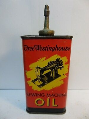 VINTAGE VERY RARE 1940's-50's FREE-WESTINGHOUSE OIL TIN CAN HANDY OILER LEAD TOP