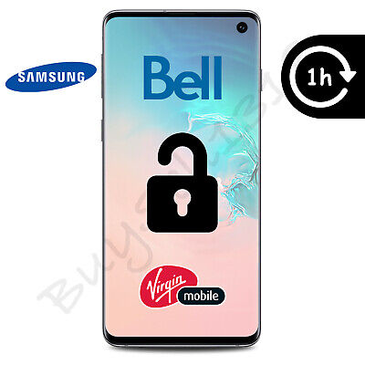 Bell Or Virgin Samsung Galaxy Unlock Code - Any Model - 1 Hour Or Less