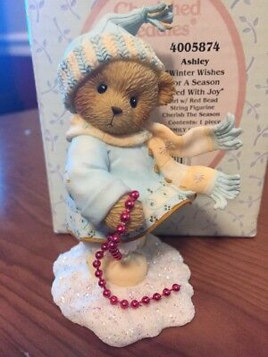 """Cherished Teddies """"Ashley"""" Winter Wishes For A Season Filled With Joy 2006"""