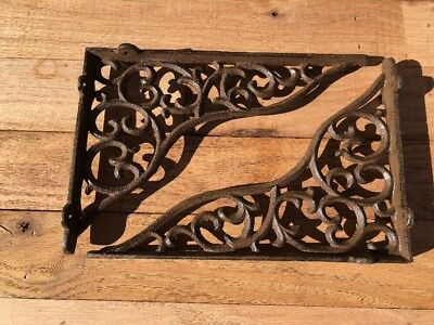 "Pair Of Cast Iron Shelf Brackets 11"" Architectural DIY Farmhouse Projects"