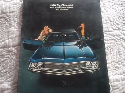 1970 Big Chevrolet Brochure. 22 pgs. - VG Condition