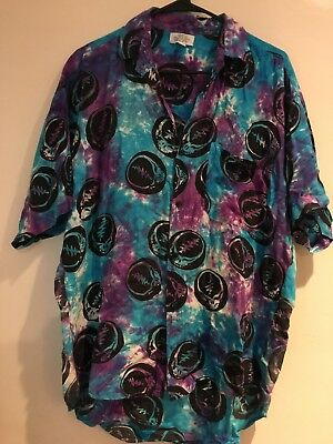 The Grateful Dead 1994 Tye Dye Button Down Shirt  Jerry Garcia