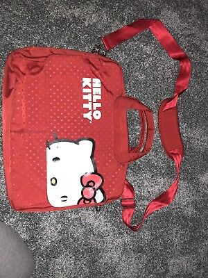 Sanrio Hello Kitty Computer Laptop Shoulder Messenger Bag Carrying Case Red