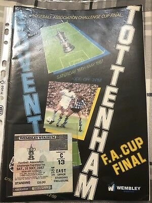 Fa Cup Final Programme 1987 + Ticket