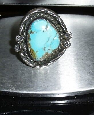Vintage Sterling Silver Turquoise Ring 6