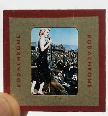 Marilyn Monroe Original 1954 Korea Kodachrome Kodak Color Slide! Pristine!