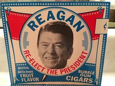 Ronald Reagan SWELL PRESIDENTIAL Bubble Gum Cigar Case of 24 SEALED Box