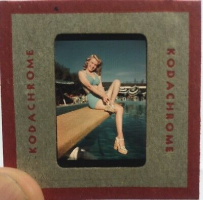 Marilyn Monroe Original 1946 Kodachrome Kodak Color Slide! Pristine!