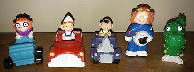 Dennis The Menace Figures - Three in Cars, Two with Costumes!  RARE RUFF!
