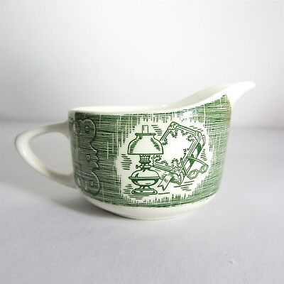 Vintage The Old Curiosity Shop Creamer 8 oz Green Royal China USA