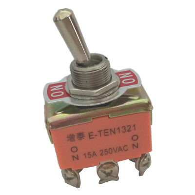 AC 250V 15A ON/ON 2 Position 6 Pin Panel Mount Toggle Switch