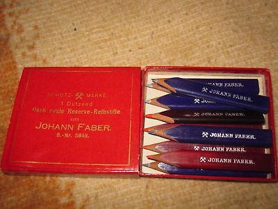 Johann Faber miniuture refills red and blue lead pencils ! ! !
