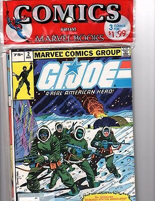 GI JOE MARVEL sealed 3-pack in original condition (Issues #2 reprint, 26 and 27)