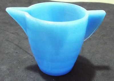 Vintage Akro Agate Blue Glass Child's Pitcher (or creamer)