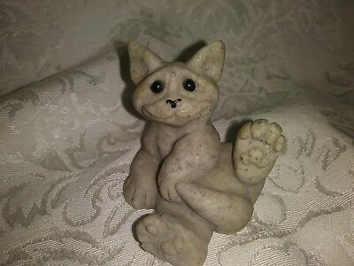 """Quarry Critters Clyde the Cat Figurine 2"""""""