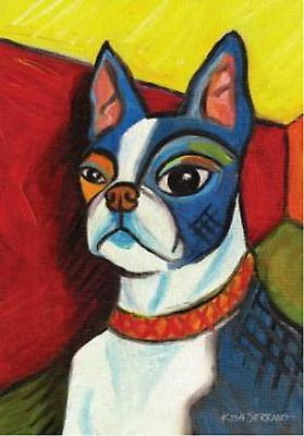 New Large Toland Paw Palettes Flag Pawcasso Boston Terrier Dog 28 X 40 Unique!