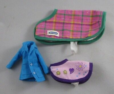 Breyer Horse Classic Blanket Lot Mare and Foal Plus Blue Jacket