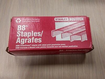 Stanley Bostitch B8 Staples / Agrafes 5000 PowerCrown Chisel-Point Staples