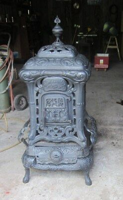 parlor stove Acme Carbon Newark stove works Chicago Ill. Very rare !!