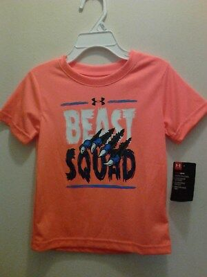 Nwt $17 Under Armour Toddler Boy's Beast Squad Heat Gear Top Size 2T