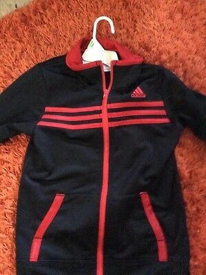 Kids Addias Tracksuit size 7 with both sweat shirt and pants
