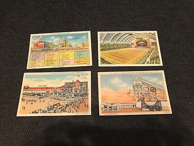 Atlantic City, New Jersey - 9 Vintage POST CARDS