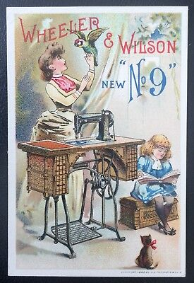 Wheeler & Wilson Sewing Machines Victorian Trade Card - Lot #3