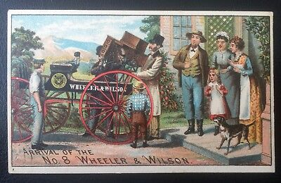 Wheeler & Wilson Sewing Machines Victorian Trade Card - Lot #1