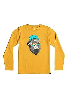 (176, GOLDEN GLOW) - Quiksilver Boys' Classic Youth Kong Business Long Sleeve