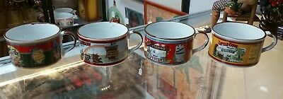 Set of 4 Vintage Tabasco D.H. Holmes Soup Mugs Made in Japan (Gumbo Bowls)