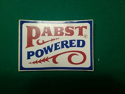 Pabst powered nos vintage sticker