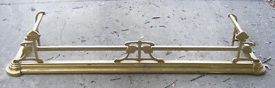 """Art Deco Arts & Crafts Fireplace Guard, Rail, Weighted, 1930's 54"""" x 15"""""""
