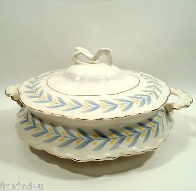 APOLLO by W S George Radisson China Footed Round Covered Serving Vegetable Bowl