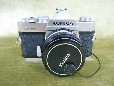 KONICA Autoreflex T - 35mm Film SLR with 52mm HEXANON F1.8 Lens - Tested Working