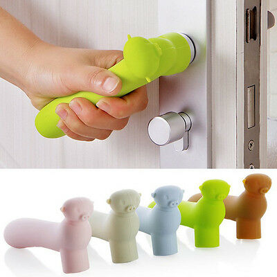 Silicone Door Pig Handle Protective Baby Kids Child Safety Doorknob Cover Protec