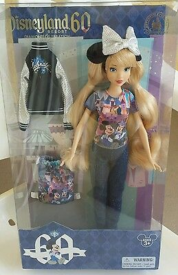 Nib Disneyland 60 Anniversary Doll Limited Special  Edition With Backpack