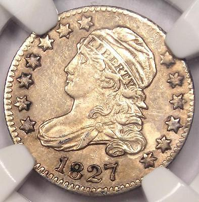1827 Capped Bust Dime 10C - NGC AU Details - Rare Early Date Certified Coin