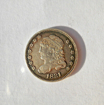 1831 Capped Bust Half Dime H10C Silver 5 Cents - Sharp Coin - Very Nice