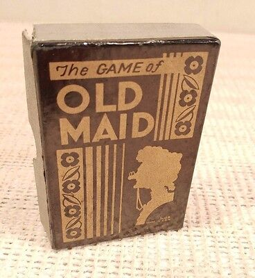 Vintage Whitman Old Maid Card Game & Box - Black Americana - Gangsters - COOL!