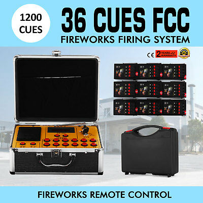 36 Cues FCC Fireworks Firing System + 1200Cues Fireworks Remote Control