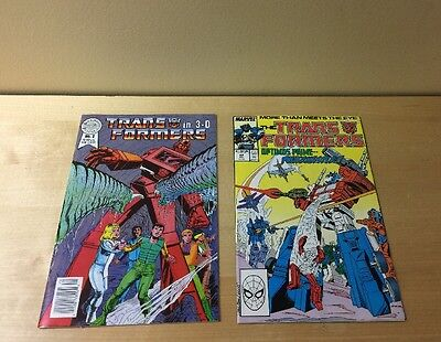 TRANSFORMERS #42 1988 Return of OPTIMUS PRIME + 3D Comic 1987 HIGH GRADE