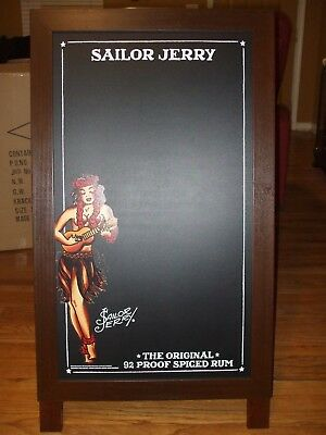Sailor Jerry Double Sided Chalkboard Easel Sign Display Man Cave Spiced Rum
