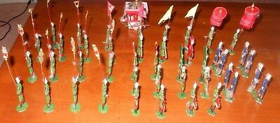 circa 1940 Antique China Chinese Lead Figures / Toys  Parade   Hand-Painted