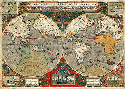 World 1595 2 A2 High Quality Canvas Print
