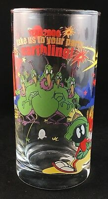 1999 Looney Tunes Warner Bros Marvin The Martian Ixl Limited Edition Glass Retro