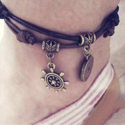 Women 12 Constellation Ankle Bracelet Chain Anklet Foot Jewellery Foot Beach 1pc