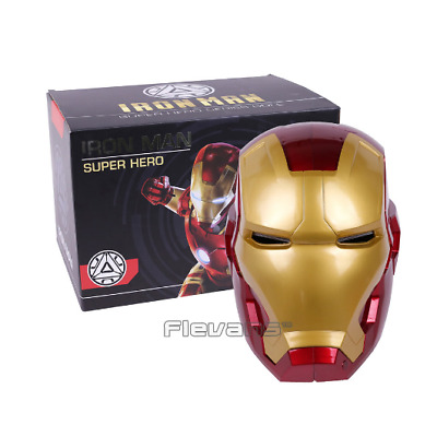 High Quality Iron Man Helmet Ring Sensor Switch Tony Stark Cosplay Mask with LED